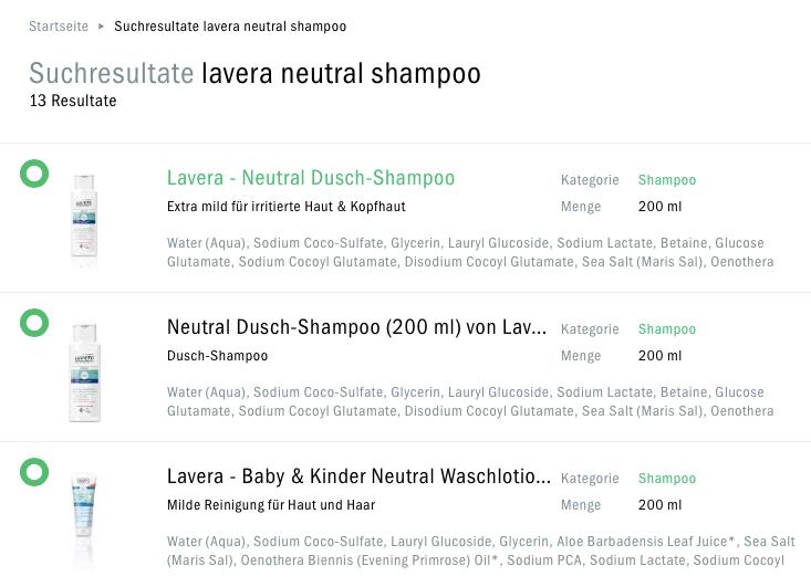 Bio Shampoo Auswahl